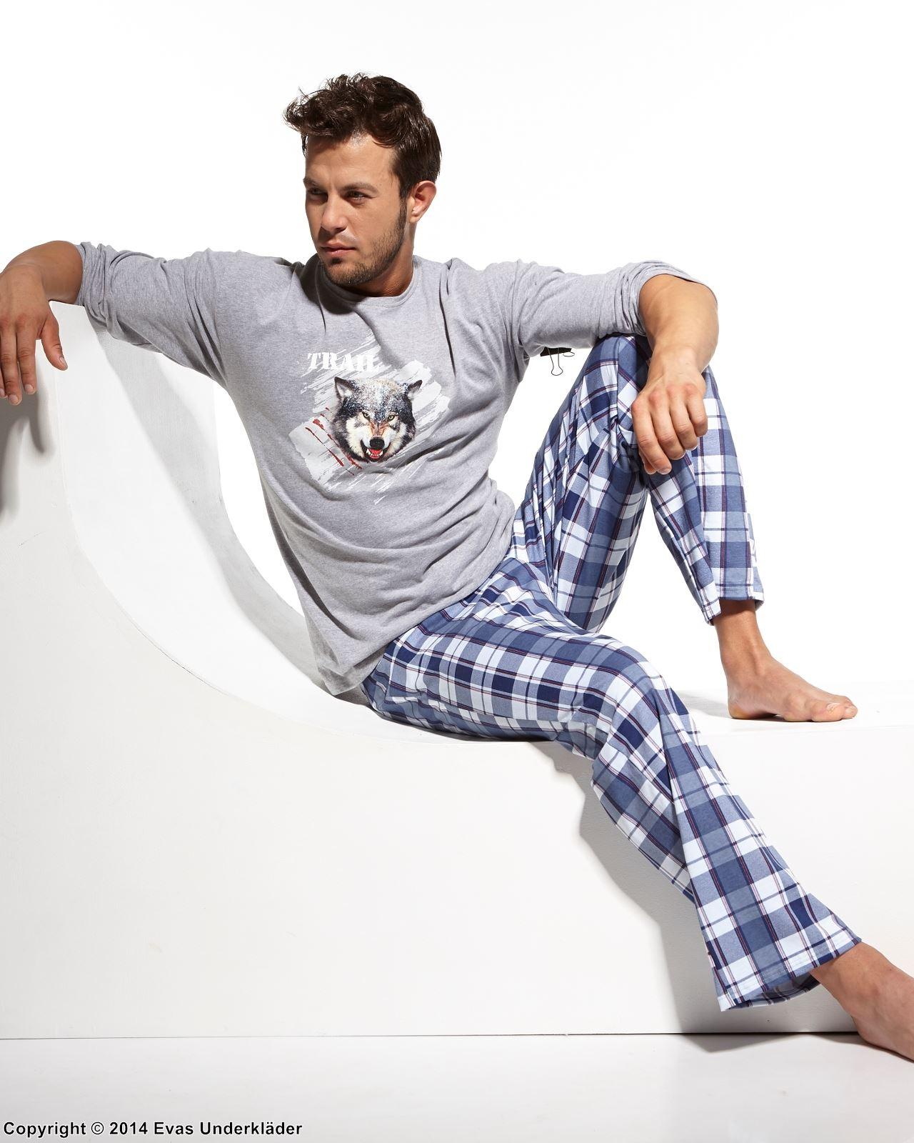 Pyjamas med vargansikte